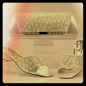 Women's shoe and hand bag set